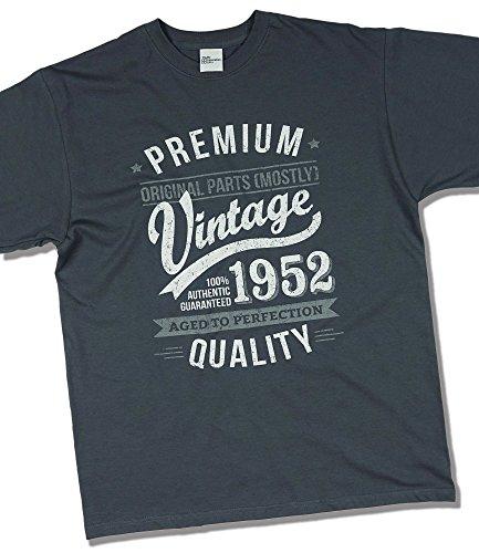 1952 Vintage Year - Aged To Perfection - 65. Geburtstag geschenk T-Shirt fr Herren Grau