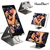 #7: HomeBliss Mobile Phone Metal Stand/Holder for Smartphones and Tablet Upto 10.1 inch - Antique Silver