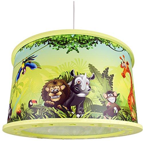 dschungel lampe Elobra Kinderzimmerleuchte, Holz, E27, lindgrün, 39 x 39 x 24 cm