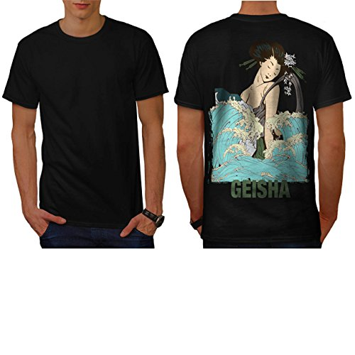 geisha-lady-tide-art-sea-woman-men-new-black-m-t-shirt-back-wellcoda