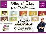Confetti MAXTRIS Kit Angebot von 10kg. Geschmack wählbar für confettate und Ereignisse