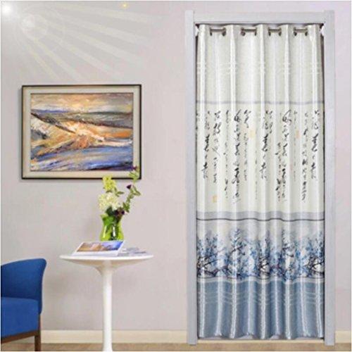 Rideau de porte Liuyu · Maison de Vie en Tissu Chambre à Coucher Salle de Bain Salle de Montage Cuisine décoration Baie vitrée Garder au Chaud Salon (Couleur : Bleu, Taille : 180 * 70cm)