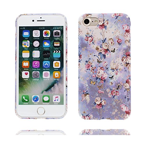 iPhone 7 Plus Custodia, Slim TPU Cartoon Case Cover Shell Progettato per iPhone 7 Plus Copertura (5.5 pollici) ( fiore Fiore di pesco ), prova antipolvere della prova di polvere ( Flower ) color 3