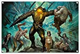 Bioshock design on PVC-Tarpaulin including eyelets in the format: 23.6' x 15.7'. High-quality art print realized as wall picture