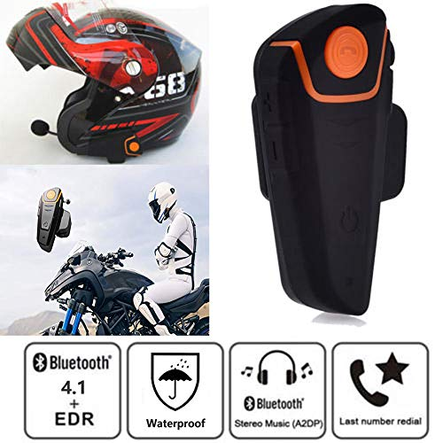 SayHia Motorrad Helm Headset Bluetooth 4.1 Motorrad Kopfhörer Mic Lautsprecher Freisprecheinrichtung Musik Headset Kopfhörer Kopfhörer Lautsprecher