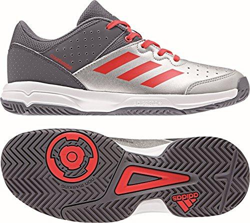 adidas Kinder Handballschuhe Court Stabil JR onix/silver met./hi-res red s18 38
