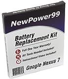 Akku-Austausch-Kit für das Google Nexus 7, Asus Nexus 7, und Nexus 7C mit Installations-Video, Werkzeuge und langarbeitenden Akku