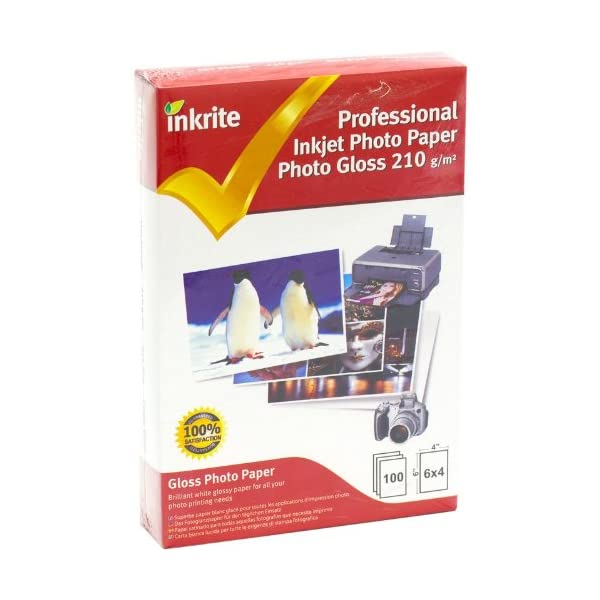 Inkrite-PPIPG21064100-PhotoPlus-Professional-Paper-Photo-Gloss-210gsm-6x4-100-Sheets