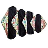 4pcs/lot Reusable Washable Waterproof Bamboo Charcoal Cloth Menstrual Sanitary Maternity Mama Pads (WSDA8)