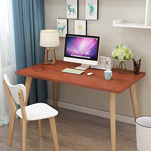 Tische CJC, Computer Studie, Verdickt Desktop, Robust Beine, Hölzern PC Laptop Arbeitsstation Büro Daheim (Farbe : Maple Color, größe : 100x60x75cm) -
