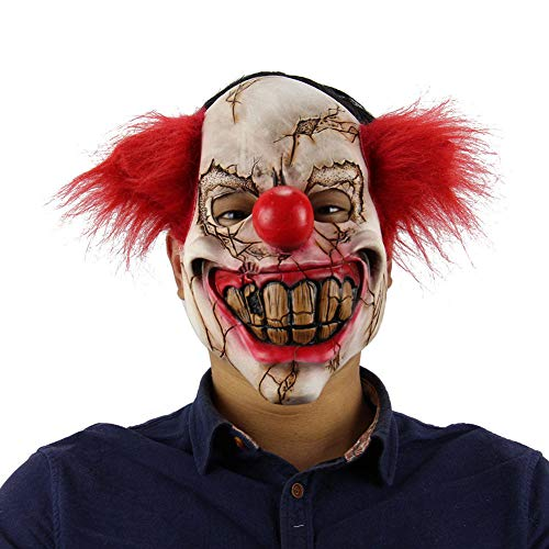 Eine Joker Kostüm Realistische - YXYXN Halloween Clown Maske, Scary Clown Maske Vollgesichtsmaske Kostüm Cosplay Party Joker Maske Latex Maske Horror Requisiten
