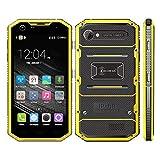 Mobiltelefon Ken Xin DA Proofing W7 Smart Phone 16 GB, IP68 wasserdicht, stoßfest, staubdicht, 5,0 Zoll Andriod 5,1 MTK6735 Quad Core, RAM: 1 GB, Netzwerk: 4G (Farbe : Gelb)