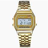Ocamo Concise - Reloj de pulsera electrónico, multifunción, con correa de aleación y pantalla led. Perfecto para deportes al aire libre.