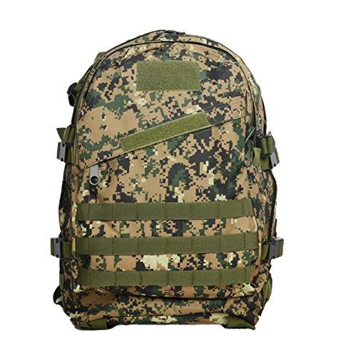 Camouflage Outdoor Bergsteigen Tasche für Männer und Frauen Large Capacity Rucksack Outdoor Wasserdichte Rucksack 40L E