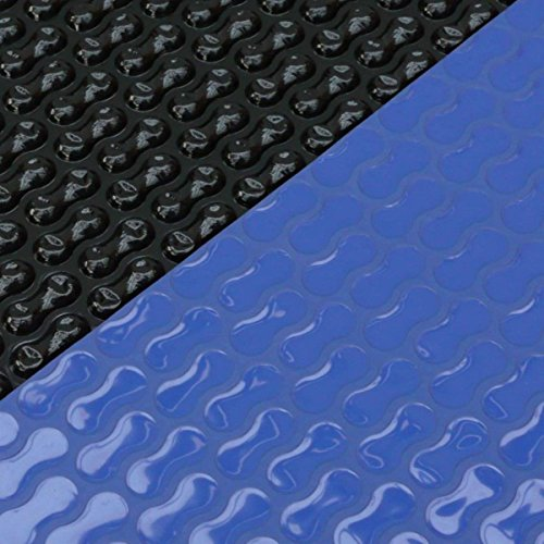 Solarabdeckplane Luftpolsterfolie 400µ 3,60m x 7,37m ovalform GeoBubble blau/schwarz Solarplane Plane