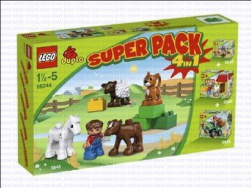 Lego-Duplo-66344-The-Farm-Super-Pack-4-in-1-includes-5643-5644-5645-and-5646