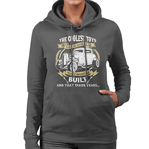 The Coolest Toys Hotrods Women's Hooded Sweatshirt Charcoal