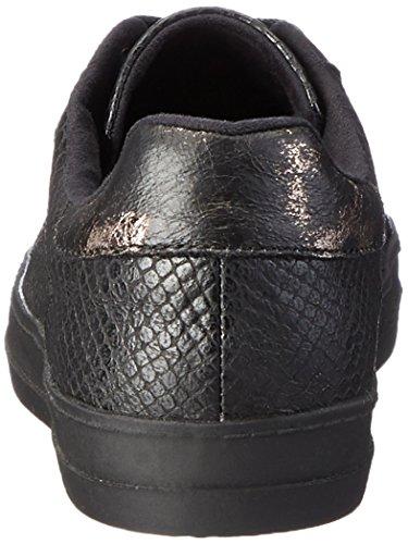 Tamaris Damen 23606 Sneakers Schwarz (blk Snake Comb 058)