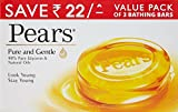#9: Pears Pure and Gentle Soap Bar, 125g (Pack of 3, Now at Rupees 22 Off)