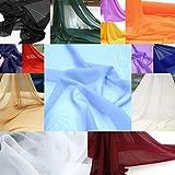 TOLKO Chiffon Dekostoff/Kleiderstoff in 3 Farben -
