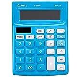 Comix c-838ec bunt Standard-Funktion Desktop Taschenrechner 12Ziffern Solar und Batterie, Dual Power für Schule Büro Haus