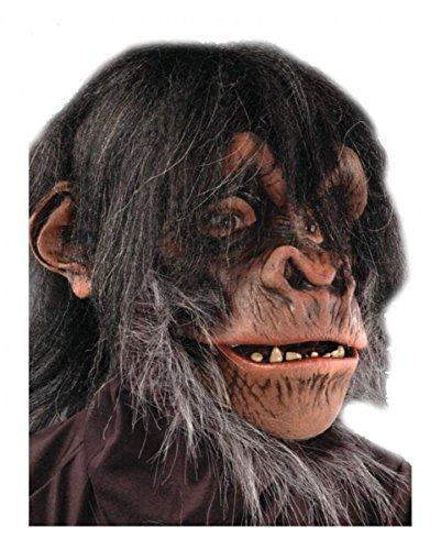 Schimpansen Maske Deluxe / Monkey Monster Super-deluxe-halloween-maske