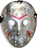 Home Tools.EU–Halloween máscara | Disfraz Horror Hockey Myers de Rostro Máscara, Máscara de Cara de Carnaval,, famowesta Disfraz de Hockey, Shabby Plata