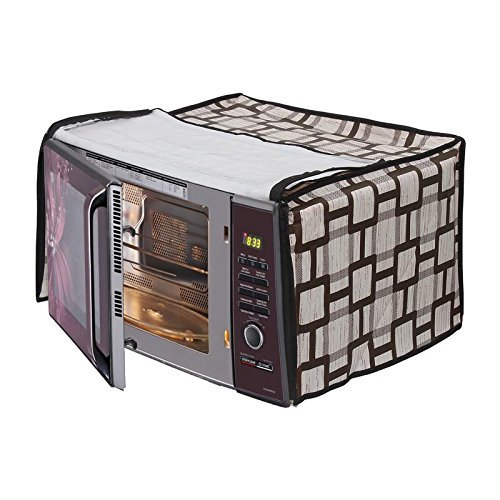 Stylista Microwave Oven Cover for Samsung 28 L Convection MC28H5145VK/TL, Geometric Pattern