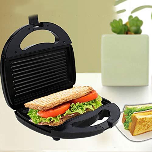DKEyinx Gestreifter Platten-Toaster, elektrischer Sandwich-Hersteller, Küchen-Frühstücks-Brotmaschine