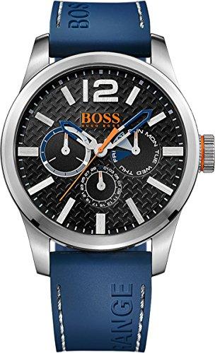 BOSS Orange Herren-Armbanduhr PARIS Multieye Analog Quarz Silikon 1513250