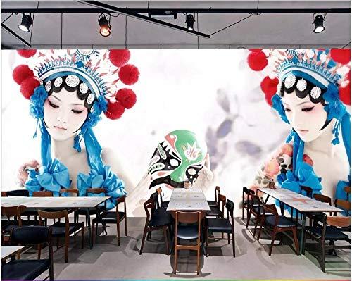 Elemente Der Natur Kostüm - SKTYEE 3d fototapete chinesischen stil drama peking oper kostüm schönheit wohnkultur wohnzimmer tapete für wände 3 d, 250x175 cm (98.4 by 68.9 in)