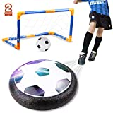 amzdeal Air Football Kit (1 x Hover Ball + 1 Mini Soccer +2 Goal di Calcio +1 Gas Needle),Hover Ball Gioco Indoor & Outdoor (2 Goal)