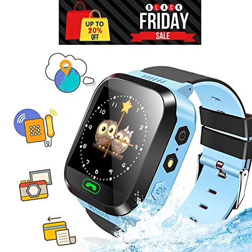 Ellbeka Smartwatch para Niños, Llamada de Emergencia SOS, localizador GPS, Perímetro de...