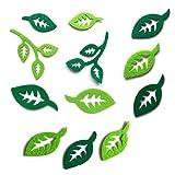 Bastelfilz Figuren Set - Blätter, sortiert grün. - Filz, Textilfilz, Streudeko