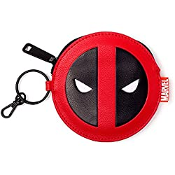 Bioworld Marvel Comics Deadpool Face Coin Purse, Red/Black (GW268775DED) Monedero, 16 cm, Rojo (Red)