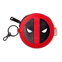 Bioworld MARVEL COMICS Deadpool Face Coin Purse, Red/Black (GW268775DED) Portamonete, 16 cm, Rosso (Red)
