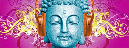 Pro-Art de imágenes palé an638l5–cuadro Canvas de Buda with auricular, 30x 80cm 3