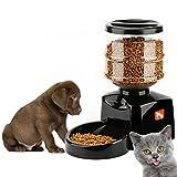 Tera® Futterautomat Automatischer Futterspender Programmierbare Portion & Zeit mit Stimm-Aufnahme für Hunde und Katzen (5,5l Füllmenge)