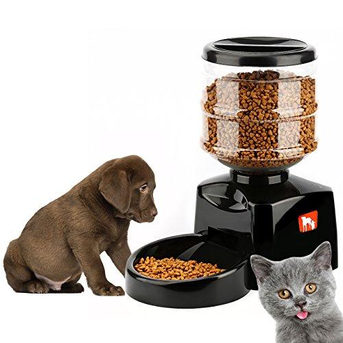Tera® Futterautomat Automatischer Futterspender Programmierbare Portion & Zeit mit Stimm-Aufnahme für Hunde und Katzen (5,5l Füllmenge) -