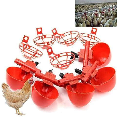 HeroNeo ® Lot de 5 volailles eau potable Cups- poulet