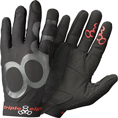 Triple Eight ExoSkin Handschuh, Unisex-Erwachsene, schwarz, Medium (Ski Racing Kostüm)