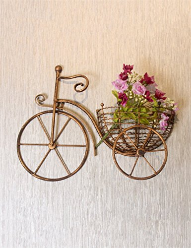 Creativo Bike Flower Pot Rack europeo Ferro Stile parete Fiore