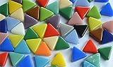 30g Mini Mosaiksteine dreieckig Seitenlänge buntmix 1cm,ca.55 Stück