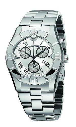Roberto Cavalli 7253616015 - Reloj unisex de cuarzo, correa de acero inoxidable color plata