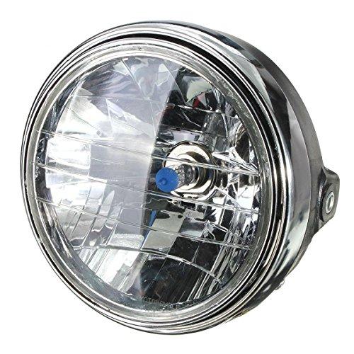 """Motorrad Scheinwerfer - TOOGOO(R)7"""" Motorrad 12V Runde Scheinwerfer Halogen H4-Birne Kopf Lampe Seitenmontage"""