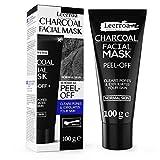 Schwarze peeling Maske zum Entfernen von Mitessern - 100 ml XXL Tube - Peel-Off Creme aus Bambus-Holzkohle - Porenreiniger