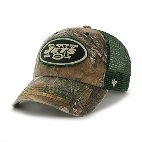 NFL '47 Huntsman Closer Camo Mesh Stretch Fit Hat, unisex, Realtree Camouflage,...