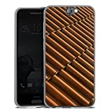 HTC One A9 Slim Case Silikon Hülle Schutzhülle Dachziegel Ziegel Look Muster