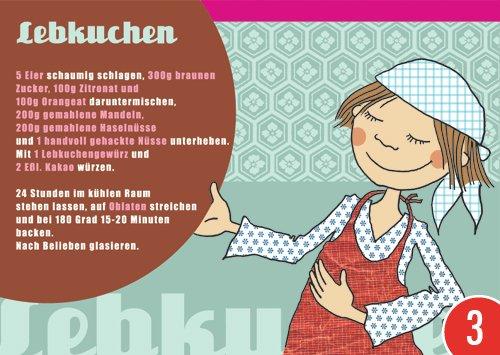 3er-Pack: Postkarte A6 +++ WEIHNACHTEN von modern times +++ LEBKUCHEN +++ ELKE SCHILLAI © KARTENKÜCHE -