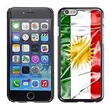 Graphic4You Kurdistan Kurdisch Flagge Harte Dünn Hülle Tasche Schale Schutzhülle für Apple iPhone 6 Plus / 6S Plus